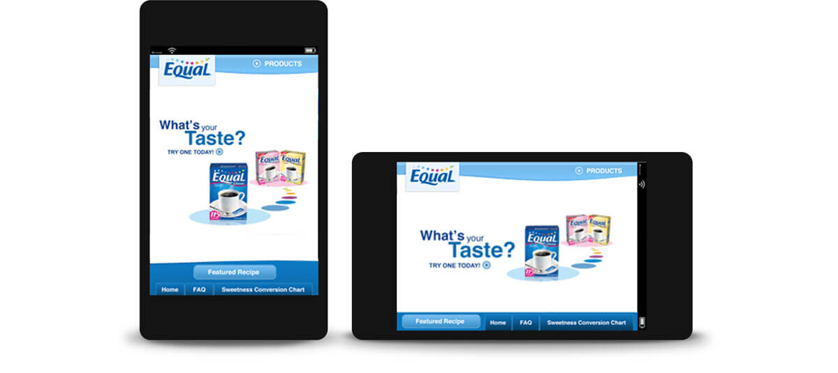 Equal - mobile site design